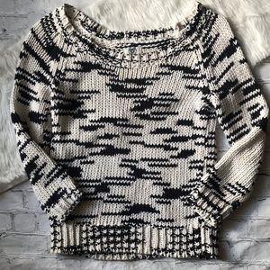 AEO Broken Stripe Scoop Neck Sweater